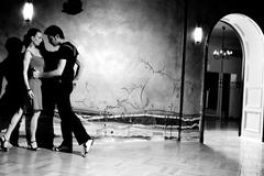 The seduction dance Stock Photos