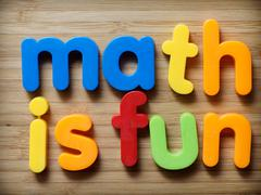 math is fun concept - stock photo