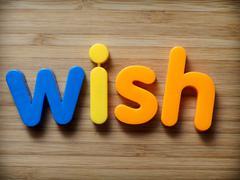 Wish concept Stock Photos