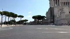 Rome Italy Monumento Nazionale a Vittorio Emanuele II road 4K 082 Stock Footage