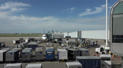 Chicago O'Hare Airport aircraft support vehicles 4K 022 Stock Footage