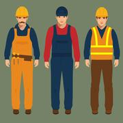 construction worker - stock illustration