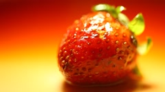 Closeup of Strawberry Stock Footage