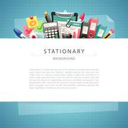 Blue Stationary Background with Copy Space Stock Illustration