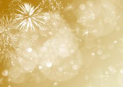Abstract holiday background with fireworks Stock Photos