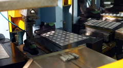 Process of gluing soles using heating machine - stock footage