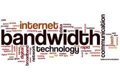 bandwidth word cloud - stock illustration