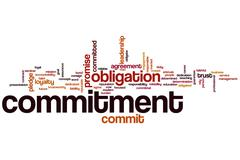 Commitment word cloud Stock Illustration