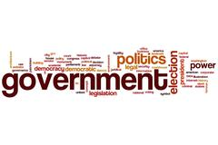 Government word cloud Stock Illustration