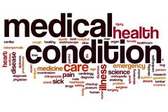 Medical condition word cloud Stock Illustration