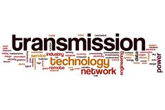 transmission word cloud - stock illustration