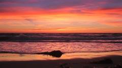 Sunset Beach Stock Footage
