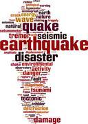 Earthquake word cloud Stock Illustration