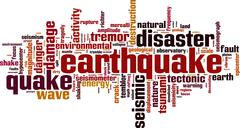 Earthquake word cloud Piirros