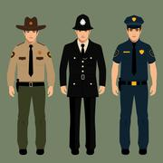Policeman and sheriff Stock Illustration