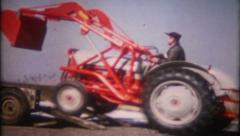 1464 - delivery of a new farm tractor to the ranch - vintage film home movie Arkistovideo