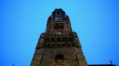 The Belfry of Bruges, Belgium Stock Footage