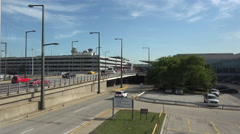 Chicago O'Hare International Airport building 4K 021 Stock Footage