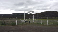 Trujillo Cemetery southern Colorado valley 4K 209 Stock Footage