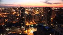 Time Lapse City Scape Orange Sunset Stock Footage