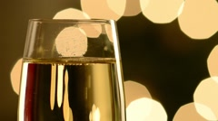 Champagne glasses close up 2 Stock Footage