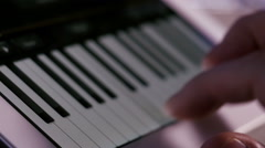 Playing virtual piano on tablet computer Stock Footage