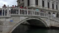 Venice Italy busy canal bridge 4K 015 Stock Footage