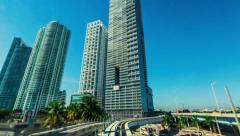 Miami Metromover Timelapse (HD) Stock Footage