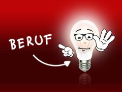 beruf bulb lamp energy light red - stock illustration