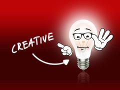 creative bulb lamp energy light red - stock illustration