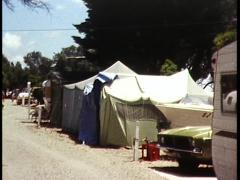 Summer Beach Camping/ Tourism (Archive Footage) 1980s Stock Footage