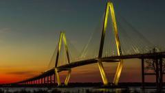 Timelapse of Ravenel Bridge in Charleston, SC Stock Footage