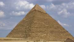 4K timelapse. Pyramid of Khufu. Cairo. Egypt. Stock Footage