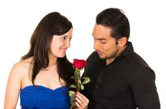 Young attratctive couple in love dating Stock Photos