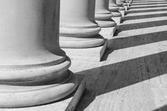 Pillars in black and white Stock Photos