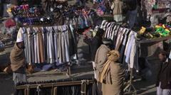 People shopping at Kabul market Stock Footage