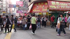 Street View of Wong Kok, Hong Kong Stock Footage