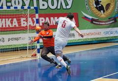 slovakia embassy team vs cfiks team - stock photo