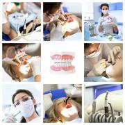Dentist collage Stock Photos
