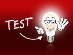 test bulb lamp energy light red - stock illustration