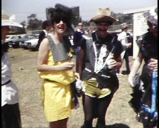 Melbourne Cup (Racing Day) Fashions on the Field (Archive Footage) 1980s Stock Footage