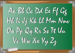 Board school and letters Stock Illustration