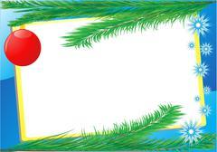 Frame branch fir-tree Stock Illustration