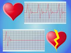 Heart rate pulse Stock Illustration