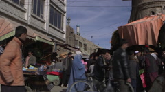 People shopping in Kabul Stock Footage