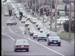 Traffic with 80's Cars (Archive Footage) 1980s - stock footage