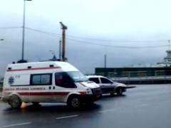 Ambulance with a siren Stock Footage