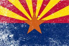 arizona state flag grunge - stock illustration