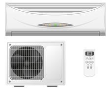 Stock Illustration of air conditioning split system vector illustration