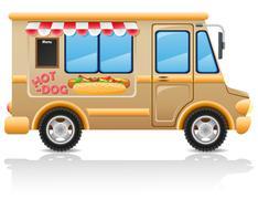 Car hot dog fast food vector illustration Stock Illustration